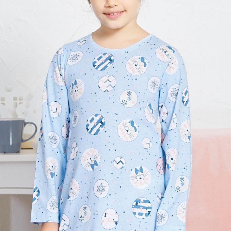 Dievčenské nočné košele s dlhým rukávom