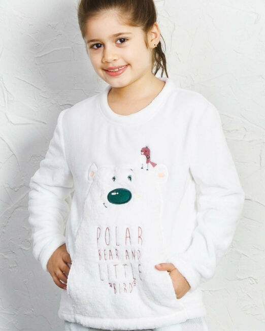 detske-pyzamo-dlhe-polar-bear