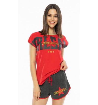 damske-pyzamo-sortky-cheerleading